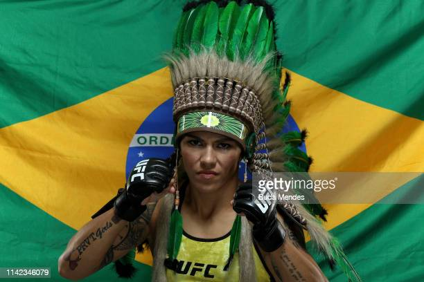 Jessica Andrade of Brazil poses for a portrait during a UFC photo session on May 08 2019 in Rio de Janeiro Brazil