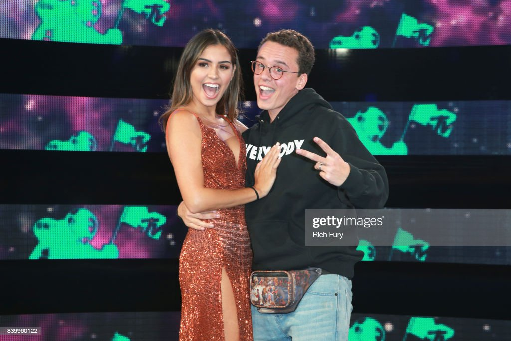 Jessica Andrea (L) and Logic attend the 2017 MTV Video Music Awards at The Forum on August 27, 2017 in Inglewood, California.