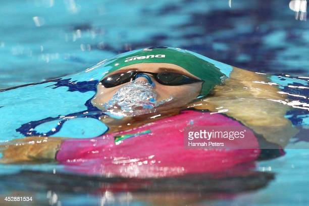 Jessica AshleyCooper of South Africa competes in the Women's4x100m Medley relay at Tollcross International Swimming Centre during day six of the...