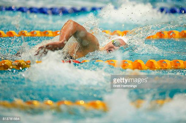 Jessica Ashwood of Australia competes in the Womens 400 Metre Freestyle heats during the 2016 NSW State Open Championships at Sydney Olmpic Aquatic...