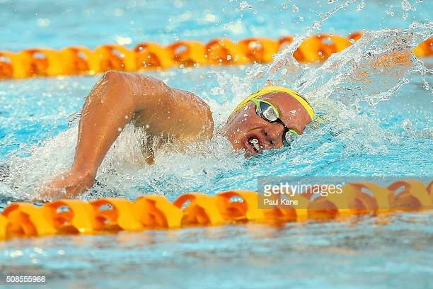 Jessica Ashwood of Australia competes in the Women's 800 metre Freestyle during the 2016 Aquatic Superseries at HBF Stadium on February 5 2016 in...