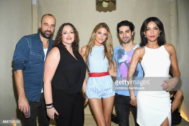 Jessica Athanasiou Martha Hunt Marco Santini and Cheriann Kwon attend the Maxim December Miami Issue Party Presented by blu on December 8 2017 in...