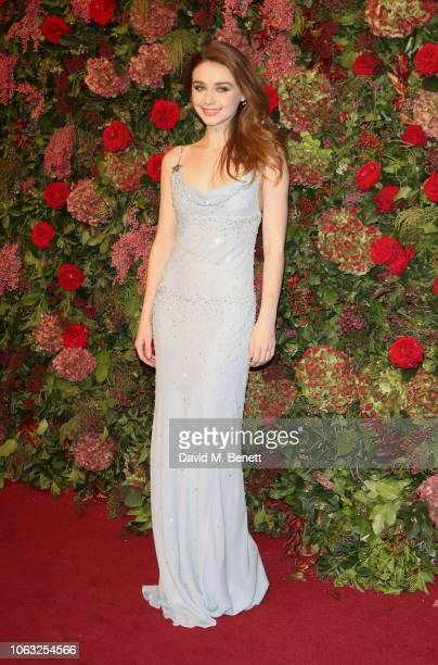 Jessica Barden arrives at The 64th Evening Standard Theatre Awards at the Theatre Royal Drury Lane on November 18 2018 in London England