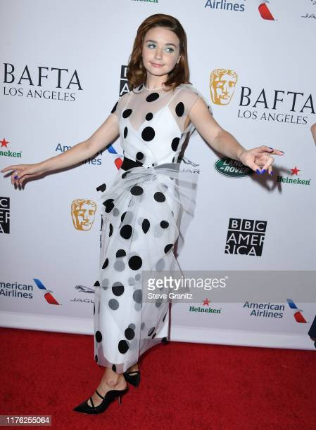Jessica Barden arrives at the BAFTA Los Angeles BBC America TV Tea Party 2019 at The Beverly Hilton Hotel on September 21 2019 in Beverly Hills...