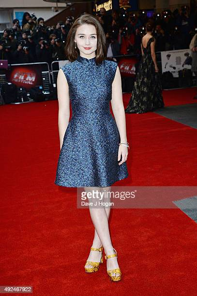 Jessica Barden attends a screening of The Lobster during the BFI London Film Festival at Vue West End on October 13 2015 in London England
