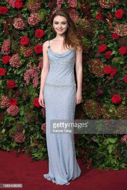 Jessica Barden attends the Evening Standard Theatre Awards 2018 at Theatre Royal Drury Lane on November 18 2018 in London England