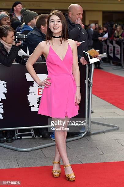 Jessica Barden attends the Jameson Empire Awards 2016 at The Grosvenor House Hotel on March 20 2016 in London England