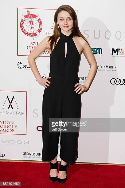 Jessica Barden attends The London Critic's Circle Film Awards at the May Fair Hotel on January 22 2017 in London United Kingdom