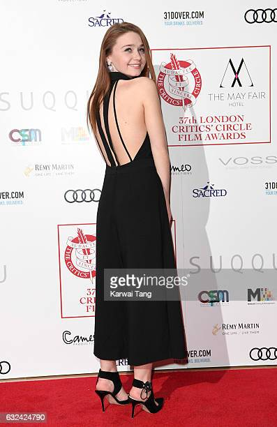 Jessica Barden attends The London Critic's Circle Film Awards at the Mayfair Hotel on January 22 2017 in London United Kingdom