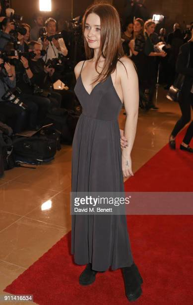 Jessica Barden attends the London Film Critics' Circle Awards 2018 at The May Fair Hotel on January 28 2018 in London England