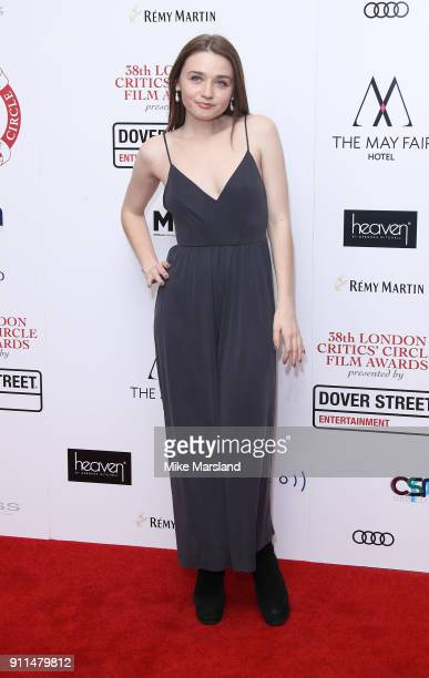 Jessica Barden attends the London Film Critics Circle Awards 2018 at The Mayfair Hotel on January 28 2018 in London England