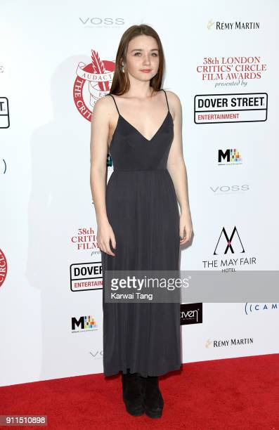 Jessica Barden attends the London Film Critics Circle Awards 2018 at The May Fair Hotel on January 28 2018 in London England
