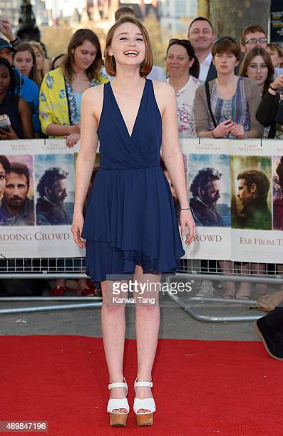 Jessica Barden attends the World Premiere of Far From The Madding Crowd at BFI Southbank on April 15 2015 in London England