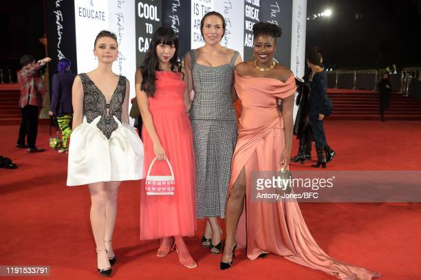 Jessica Barden Susanna Lau Mary Alice Malone and Clara Amfo attend The Fashion Awards 2019 held at Royal Albert Hall on December 02 2019 in London...