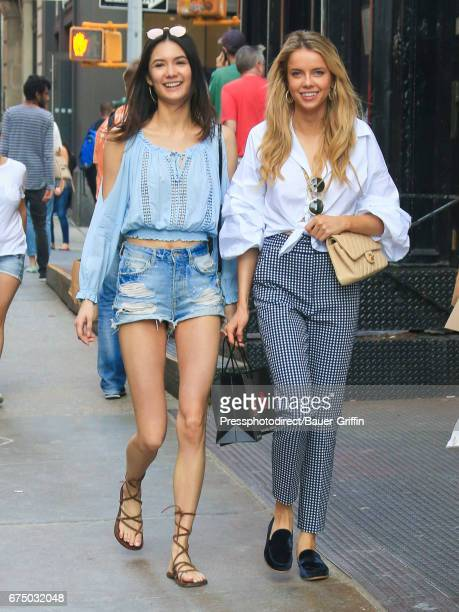 Jessica Barta Lam and Louisa Warwick are seen on April 29 2017 in New York City