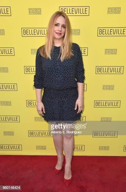 Jessica Barth attends the Pasadena Playhouse Presents Opening Night Of Belleville at Pasadena Playhouse on April 22 2018 in Pasadena California