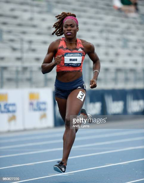 Jessica Beard competes in the Womens 400 Meter at the 2018 USATF Outdoor Championships at Drake Stadium on June 21 2018 in Des Moines Iowa