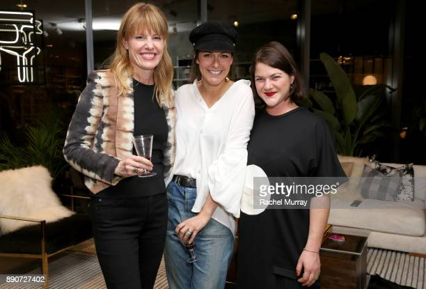 Jessica Bendinger Leanne Ford and Elaina Sullivan at the Domino Outpost CB2 Influencer Dinner at Fred Segal on December 11 2017 in Los Angeles...
