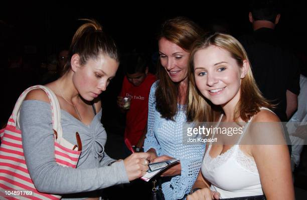 Jessica Biel and Beverley Mitchell during TMobile Action Sports Team Hosts ActionPacked Inside Party at ArcLight Cinema Rooftop in Hollywood...
