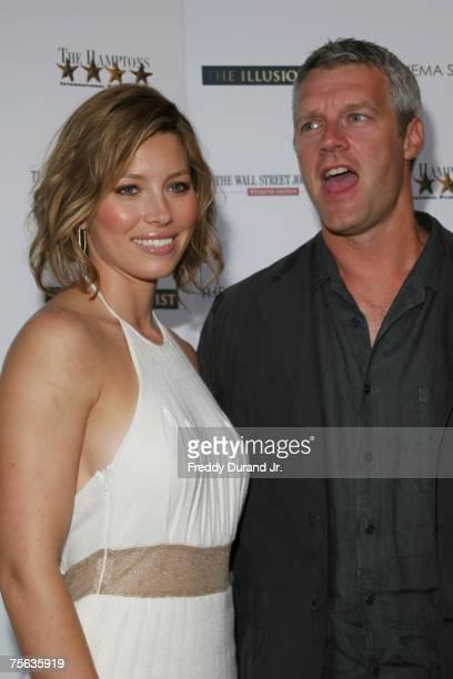Jessica Biel and director Neil Burger