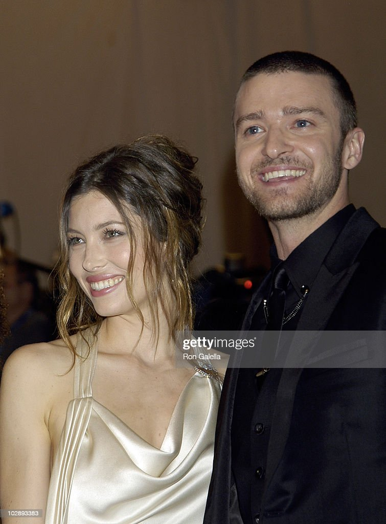 Jessica Biel and Justin Timberlake attend the Costume Institute Gala Benefit to celebrate the opening of the 'American Woman: Fashioning a National Identity' exhibition at The Metropolitan Museum of Art on May 3, 2010 in New York City.