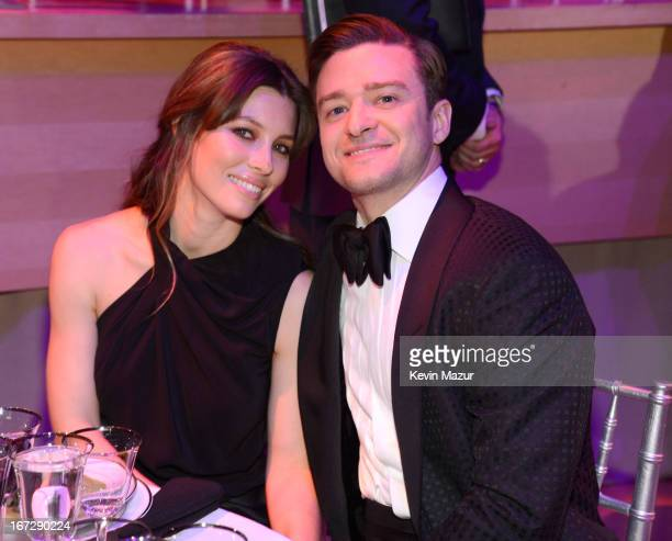 Jessica Biel and Justin Timberlake attend TIME 100 Gala, TIME'S 100 Most Influential People In The World at Jazz at Lincoln Center on April 23, 2013...