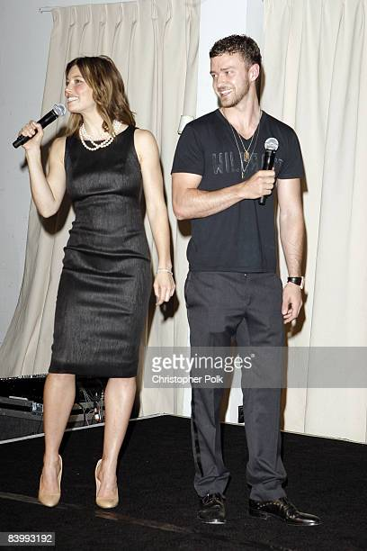 HOLLYWOOD DECEMBER 10 Jessica Biel and Justin Timberlake during Jessica Biel Make The Difference Network Partner with Auction Cause to Benefit...