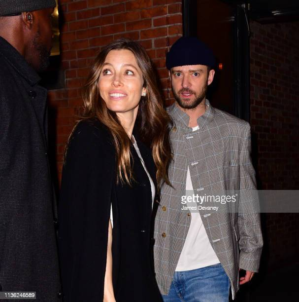Jessica Biel and Justin Timberlake leave Catch on April 11 2019 in New York City