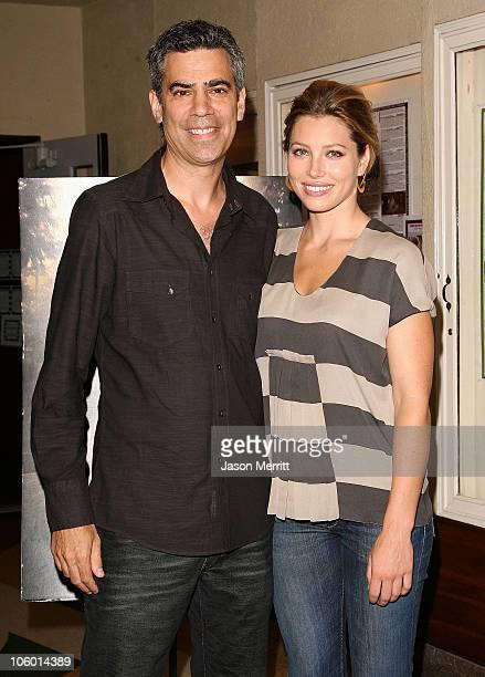 Jessica Biel and Michael London during American Cinematheque Presents A Sneak Preview Of The Illusionist at Aero Theatre in Santa Monica California...