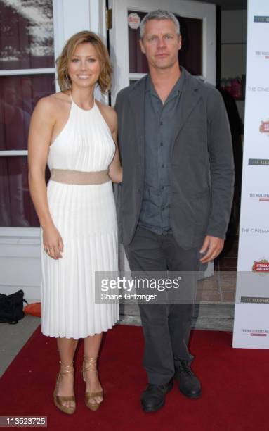 """Jessica Biel and Neil Burger during The Cinema Society and The Wall Street Journal host """"The Illusionist"""" - Arrivals at Southampton UA Cinema in..."""