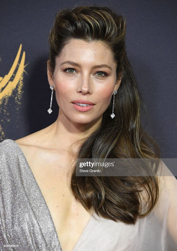 Jessica Biel arrives at the 69th Annual Primetime Emmy Awards at Microsoft Theater on September 17, 2017 in Los Angeles, California.