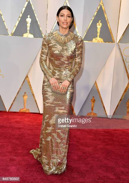 Jessica Biel arrives at the 89th Annual Academy Awards at Hollywood Highland Center on February 26 2017 in Hollywood California
