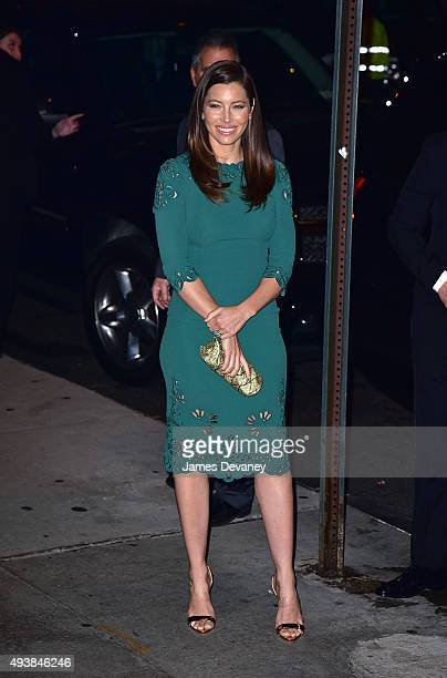 Jessica Biel arrives to Cipriani Wall Street on October 22 2015 in New York City