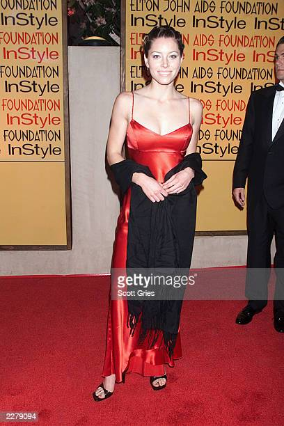 Jessica Biel at Elton John Aids Foundation/InStyle Oscar Party in Los Angeles on March 26 2000