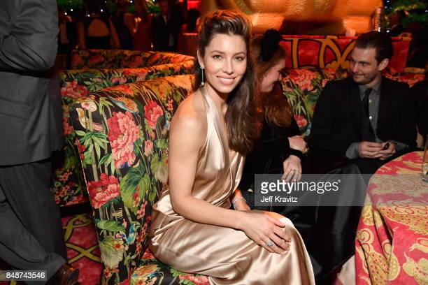 Jessica Biel at the HBO's Official 2017 Emmy After Party at The Plaza at the Pacific Design Center on September 17 2017 in Los Angeles California