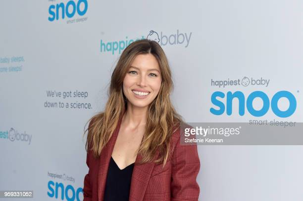 Jessica Biel attends Jessica Biel and Dr Harvey Karp Celebrate Moms Dads and their Favorite Helper the SNOO at Au Fudge Los Angeles on May 16 2018 in...