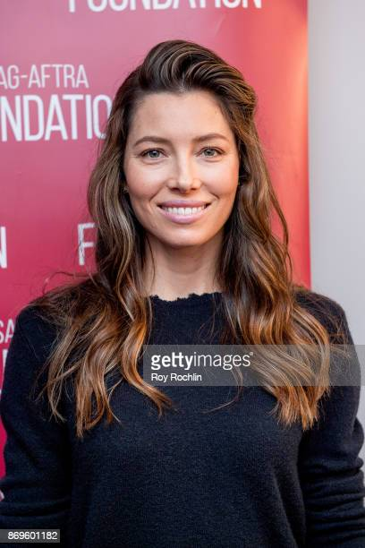 Jessica Biel attends SAGAFTRA foundation conversations presents 'The Sinner' With Jessica Biel at SAGAFTRA foundation Robin Williams Center on...