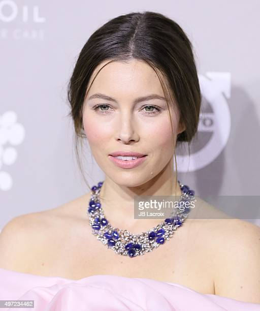 Jessica Biel attends the 2015 Baby2Baby Gala presented by MarulaOil & Kayne Capital Advisors Foundation honoring Kerry Washington at 3LABS on...