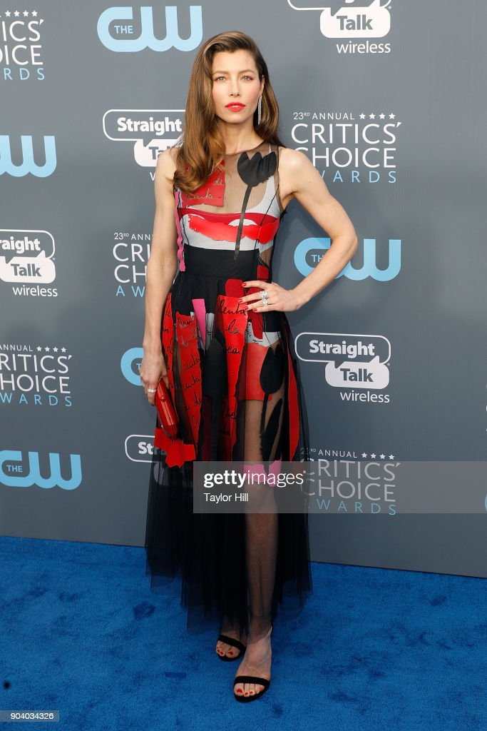 Jessica Biel attends the 23rd Annual Critics' Choice Awards at Barker Hangar on January 11, 2018 in Santa Monica, California.