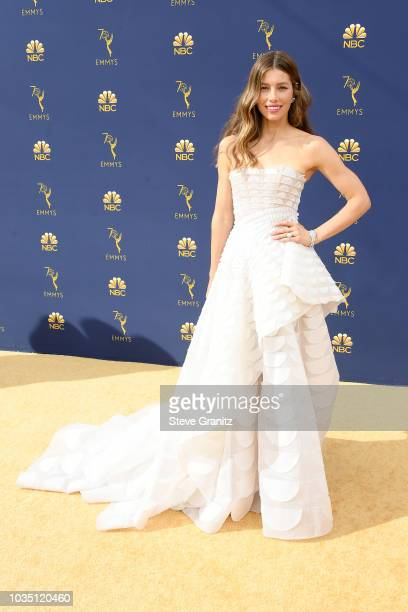 Jessica Biel attends the 70th Emmy Awards at Microsoft Theater on September 17 2018 in Los Angeles California