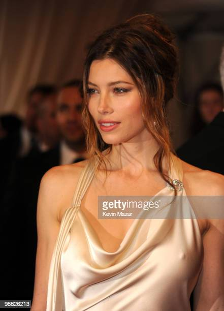 Jessica Biel attends the Costume Institute Gala Benefit to celebrate the opening of the 'American Woman Fashioning a National Identity' exhibition at...