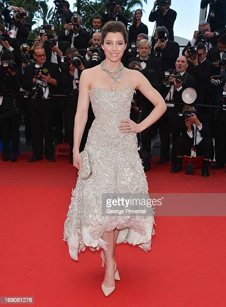 Jessica Biel attends the Premiere of 'Inside Llewyn Davis' at The 66th Annual Cannes Film Festival on May 19 2013 in Cannes France