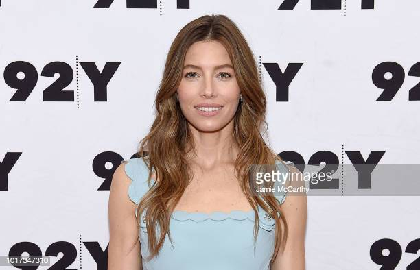 Jessica Biel and entertainment journalist Bruce Fretts attend 'The Sinner' New York Screening and conversation with Jessica Biel at 92nd Street Y on...