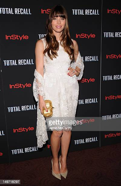 Jessica Biel attends the Total Recall New York Premiere at Chelsea Clearview Cinemas on August 2 2012 in New York United States