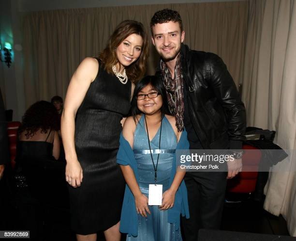 HOLLYWOOD DECEMBER 10 Jessica Biel CHLA Guest of Honor Tianna Li and Justin Timberlake during Jessica Biel Make The Difference Network Partner with...