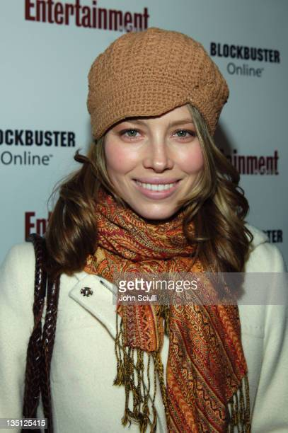 Jessica Biel during 2006 Sundance Film Festival Entertainment Weekly Sundance Opening Weekend Party Red Carpet at The Shop in Park City Utah United...