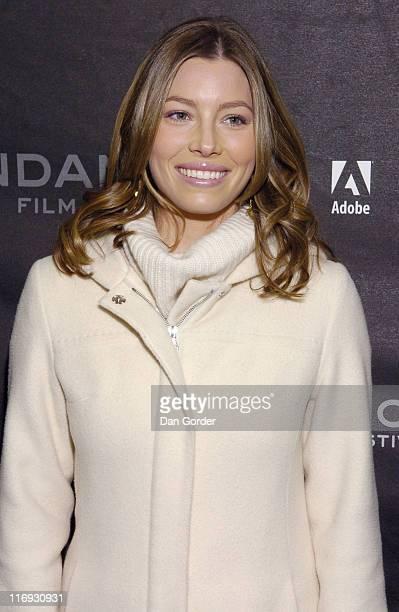 Jessica Biel during 2006 Sundance Film Festival The Illusionist Premiere at Eccles in Park City Utah United States