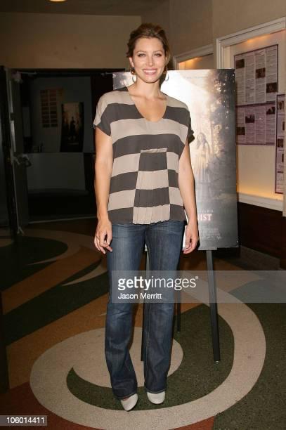 Jessica Biel during American Cinematheque Presents A Sneak Preview Of The Illusionist at Aero Theatre in Santa Monica California United States
