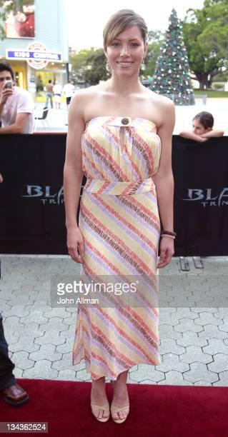 "Jessica Biel during ""Blade: Trinity"" Australia Premiere - Arrivals at Fox Studios in Sydney, New South Wales, Australia."