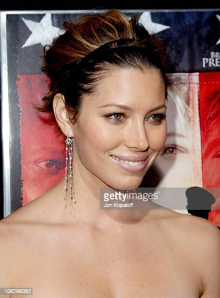 Jessica Biel during Home of The Brave Los Angeles Premiere at Academy of Motion Pictures Arts Sciences in Beverly Hills California United States